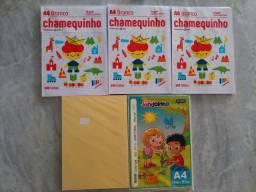 Título do anúncio: Papel A4 3 brancos e 2 coloridos. 20 reais tudo.moro em Caruaru