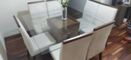 Título do anúncio: Vendo essa mesa de vidro com 8 cadeiras