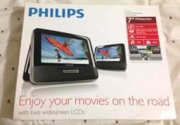 Título do anúncio: DVD Player automotivo  com 2 telas - Marca Philips