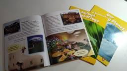 Título do anúncio: kit com 3 livros leitura inglês Penguin Kids level 6. Novos.