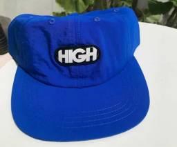 Boné High Company - 6 Panel Logo Blue