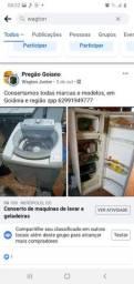 Título do anúncio: Fassa seu orçamento consertamos maquinas de lavar, geladeiras e freezer