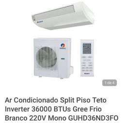 Título do anúncio: Ar condicionado split piso teto, inverter 36000 BTUs Gree quente/ frio branco