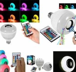 Título do anúncio: Lâmpada Luz Led Bluetooth De Led Com Controle Remoto Música Caixa De Som Rgb