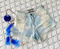 Título do anúncio: Short Jeans Cintura Alta Rasgado