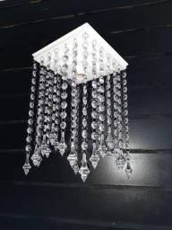 Título do anúncio: Lustre cristal acrílico pião pequeno sala quarto lojas closet  garagem corredores