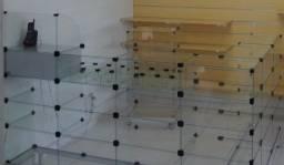 Título do anúncio: 1 Balcão de Atendimento tipo 'L' Modulado em vidro temperado de 4mm