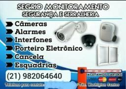 Cftv, câmaras, portões eletrotécnico, concertina, interfone, cerca elétrica, fechadura