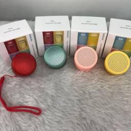 Título do anúncio: 0Mini Caixinha De Som Macaron Bluetooth Speaker Sem Fio para celular