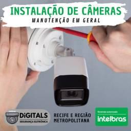 Título do anúncio: Serviços de instalação e manutenção de câmeras de monitoramento. Padrão Intelbras
