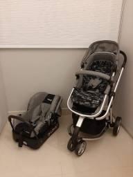 Título do anúncio: Carrinho de bebê + Bebê Conforto (Travel System Mobi Safety 1st) + Almofada Extra