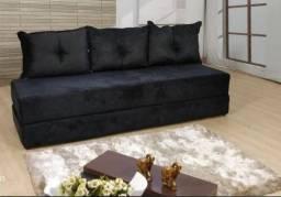 Título do anúncio: Sofanete sofá cama preto