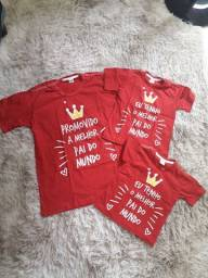Kit Camisa pai & filhos