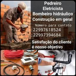 Título do anúncio: Pedreiro , Bombeiro hidráulico, & Construção geral !