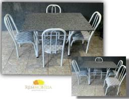 Mesa granito + 4 cadeiras / novo - entrego