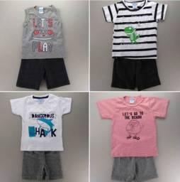 Conjunto infantil 1 a 8 anos Menino e Menina