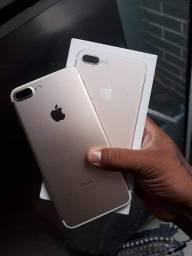 Título do anúncio: Barbada hoje iPhone 7 Plus gold Rose 32gb $1250 é o Plus semi novo
