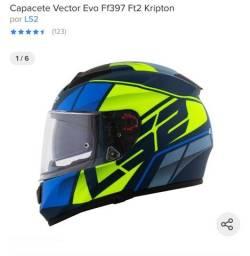 Título do anúncio: Vendo capacete ls2 vector evo ff397 ft2 kripton!