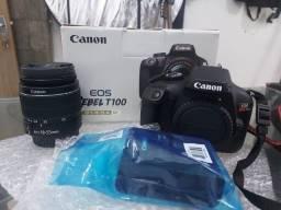 Título do anúncio: Camera Canon T100 novíssima