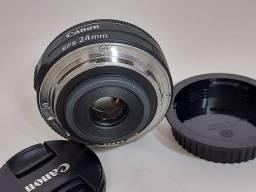 Título do anúncio: Lente Canon 24mm novíssima