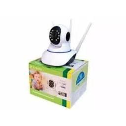 Câmera Ip 360° 3 Antenas Hd Wifi Rj45 Visão Noturna Alarme