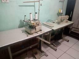 Título do anúncio: Máquina de costura overlock + máquina reta ( ambas automáticas)
