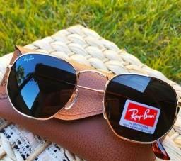 Título do anúncio: Óculos de Sol Rayban Hexagonal
