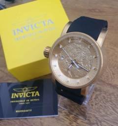 Relógios Invicta (Original) Yakuza S1 Automático Luxo Preto e Dourado
