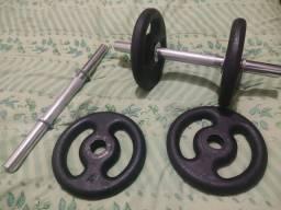 Título do anúncio: Kit Barra halter academia com anilhas 4x4 kg