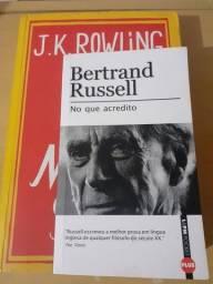 Título do anúncio: Livro Morte Súbita: J.K Rowling e Bertrand Russell: No que acredito.