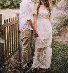 Título do anúncio: Vestido pré wedding off white