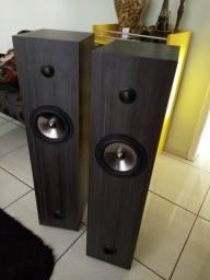 Par de Caixas Acústicas tipo Torre DIY