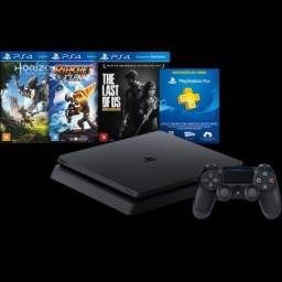 Console PS4 500GB Hits Bundle + 3 Jogos + Controle Wireless DualShock 4 - Sony