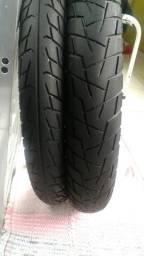 Par de pneus meia vida para cg 150 0u 125