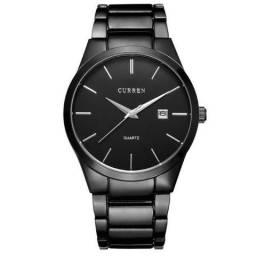 Relógio Masculino Curren original Analógico aço inoxidável preto
