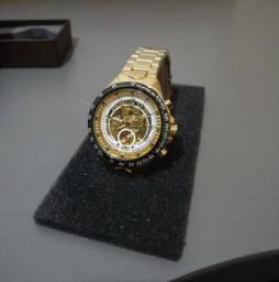 e11c93e2652 Relógio Masculino Dourado Winner