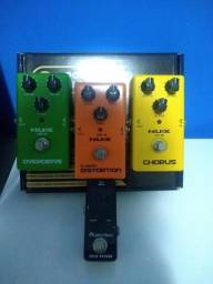 Pedal nux distortion overdrive chorus e fonte power play