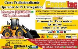 Curso para Operador de Pá Carregadeira Inicio 13-01-2020 R$ 450,00