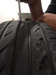Rodas orbital aro 17 pneus novos