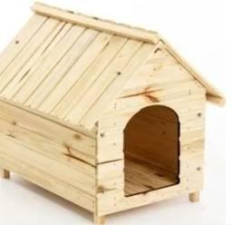 Cama / Casinha de Madeira para Cachorro N3