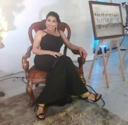 Vendo vestido de festa preto longo - R$100 PRA VENDER HOJEEEE