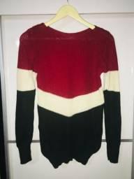Suéter tricot multicolorido nunca usado