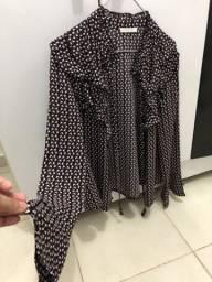 Blusa de manga G só 40 reais tecido leve e babados