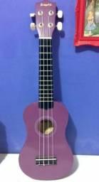 Ukulele soprano da Acoustic (Cor roxa, cordas de nylon)