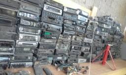 Lote de rádios antigos fm toca-fita cd