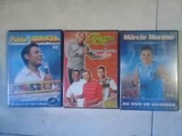 Kit de Dvd's de Arrocha Pablo, Brasilian Boys, Márcio Moreno