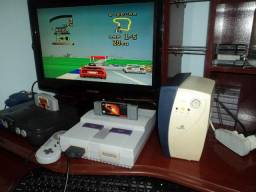 Super Nintendo com clássico Top Gear 2