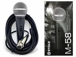 Microfone Profissional com Cabo SM58
