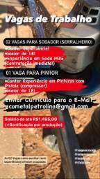Vaga para Serralheiro (Sodador) salário de 1.500$