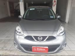 Nissan/ March 1.0 Sv Ano 2016 Cor Cinza Completo